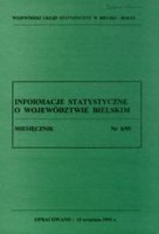Informacje statystyczne o województwie bielskim, 1995, 8