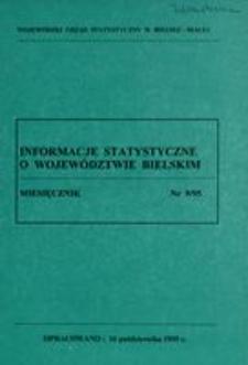 Informacje statystyczne o województwie bielskim, 1995, 9