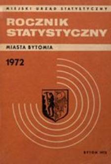 Rocznik Statystyczny Miasta Bytomia, 1972, R. 3