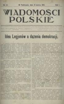 Wiadomości Polskie 1915, nr 21