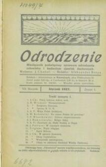 Odrodzenie, 1927, R. 7, z. 1