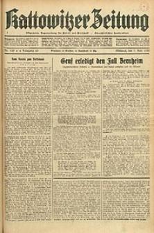 Kattowitzer Zeitung, 1933, Jg. 65, nr129
