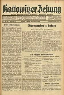 Kattowitzer Zeitung, 1933, Jg. 65, nr141
