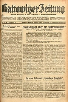 Kattowitzer Zeitung, 1933, Jg. 65, nr189