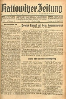 Kattowitzer Zeitung, 1933, Jg. 65, nr197