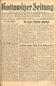 Kattowitzer Zeitung, 1933, Jg. 65, nr205