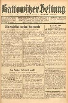 Kattowitzer Zeitung, 1933, Jg. 65, nr215