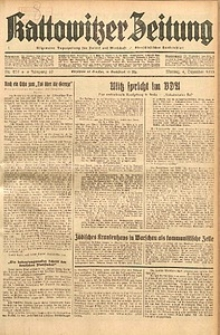 Kattowitzer Zeitung, 1933, Jg. 65, nr279