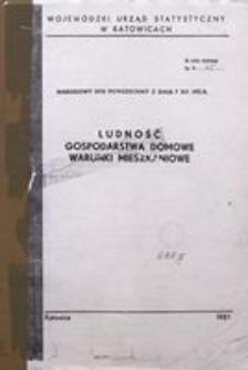 Narodowy Spis Powszechny z dnia 7 XII 1978 r. Ludność, gospodarstwa domowe, warunki mieszkaniowe
