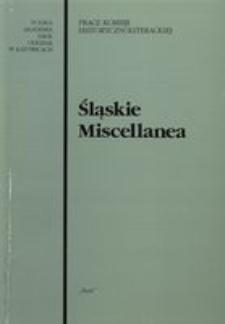 Śląskie Miscellanea, T. 10