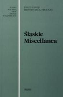 Śląskie Miscellanea, T. 11
