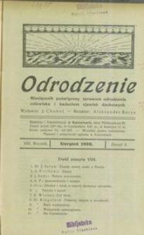 Odrodzenie, 1928, R. 8, z. 8