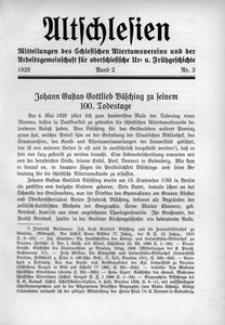 Altschlesien, 1929, Bd. 2, Nr. 3