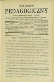 Miesięcznik Pedagogiczny, 1911, R. 21 [właśc. 20], nr 5