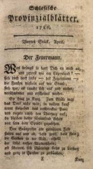 Schlesische Provinzialblätter, 1786, 3. Bd., 4. St.: April