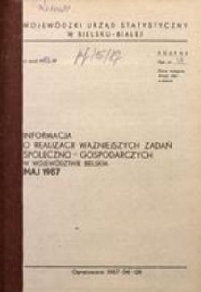 Informacja o realizacji ważniejszych zadań społeczno-gospodarczych w województwie bielskim, 1987, nr 5
