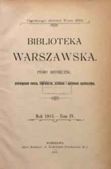 Biblioteka Warszawska, 1913, T. 4