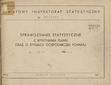 Sprawozdanie statystyczne z wykonania planu oraz o sytuacji gospodarczej powiatu Bielsko w roku 1966