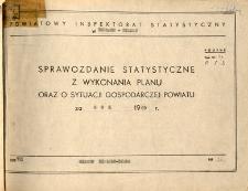 Sprawozdanie statystyczne z wykonania planu oraz o sytuacji gospodarczej powiatu Bielsko za rok 1969