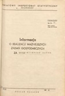 Informacja o realizacji ważniejszych zadań gospodarczych, 1970, nr 8