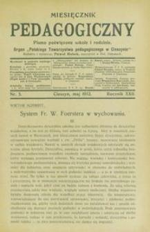 Miesięcznik Pedagogiczny, 1912, R. 22 [właśc. 21], nr 5
