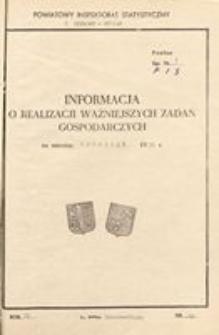 Informacja o realizacji ważniejszych zadań gospodarczych, 1972, nr 12