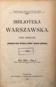 Biblioteka Warszawska, 1905, T. 1