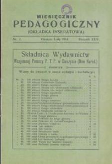 Miesięcznik Pedagogiczny, 1914, R. 24 [właśc. 23], nr 2