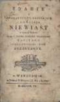 Zdanie o charakterze, obyczaiach i dowcipie niewiast w różnych wiekach. Przez p. Thomas [...] napisane, teraz na polski język przełożone.